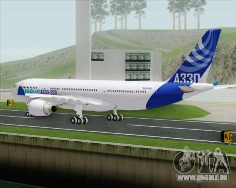 Airbus A330-200 Airbus S A S Livery pour GTA San Andreas vue arrière