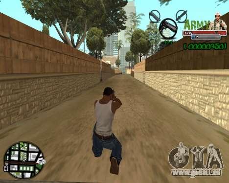 C-HUD Army pour GTA San Andreas deuxième écran