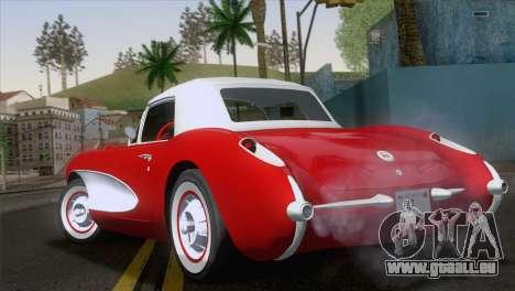 Chevrolet Corvette C1 1957 pour GTA San Andreas laissé vue