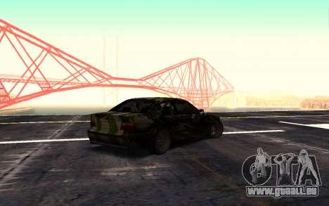 BMW M3 E36 Hunter pour GTA San Andreas laissé vue