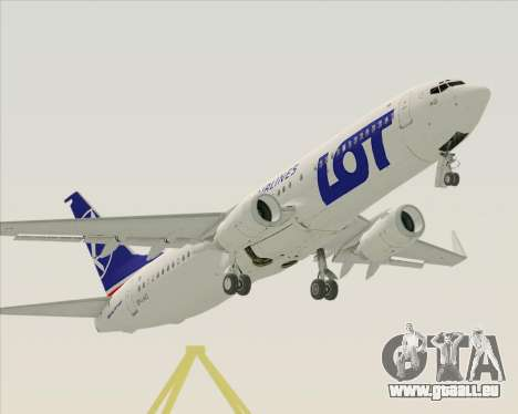 Boeing 737-800 LOT Polish Airlines für GTA San Andreas obere Ansicht