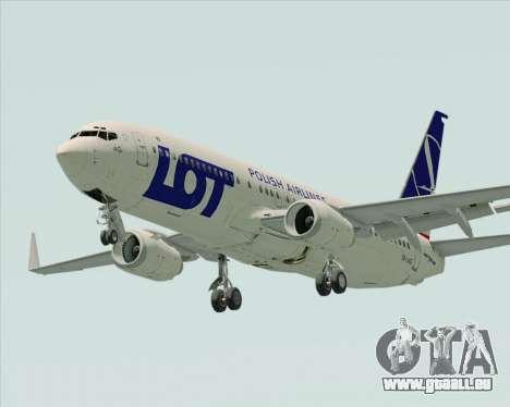 Boeing 737-800 LOT Polish Airlines für GTA San Andreas rechten Ansicht