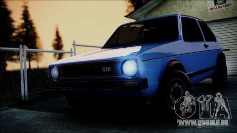Volkswagen Golf Mk1 GTD pour GTA San Andreas vue intérieure