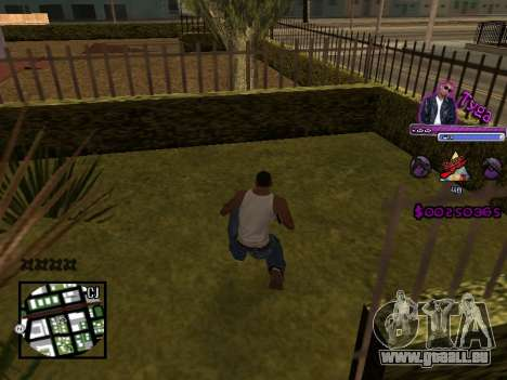 C-HUD by Tyga pour GTA San Andreas deuxième écran