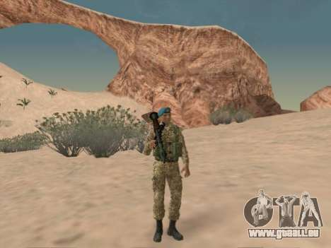 Grenadier des troupes aéroportées de la Fédérati pour GTA San Andreas