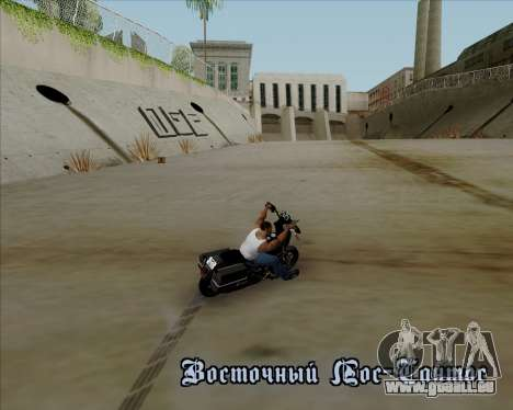 Harley-Davidson FXD Super Glide T-Sport 1999 pour GTA San Andreas vue de dessus