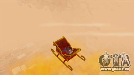Santa Claus Sleigh pour GTA San Andreas vue de droite