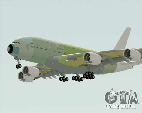 Airbus A380-800 F-WWDD Not Painted pour GTA San Andreas vue de droite