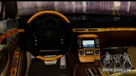 Mercedes-Benz S600 AMG für GTA San Andreas Rückansicht