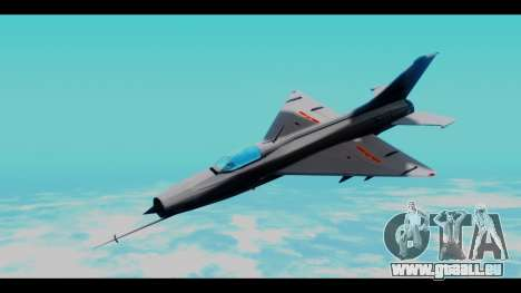 MIG-21 China Air Force für GTA San Andreas zurück linke Ansicht