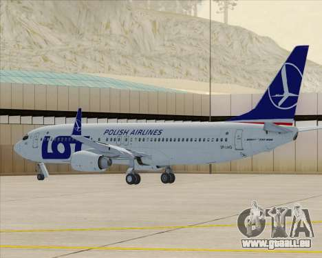 Boeing 737-800 LOT Polish Airlines für GTA San Andreas linke Ansicht