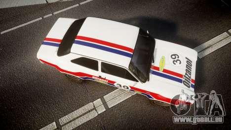 Ford Escort RS1600 PJ39 pour GTA 4 est un droit