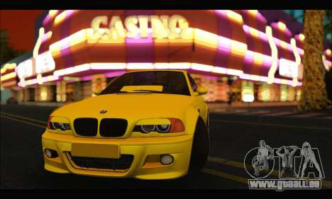 BMW M3 Coupe Tuned pour GTA San Andreas laissé vue
