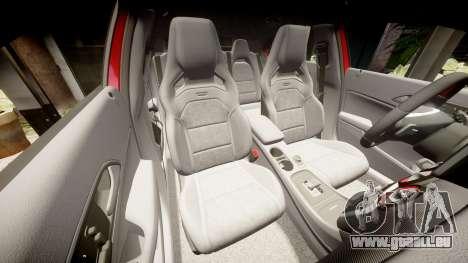 Mersedes-Benz A45 AMG pour GTA 4 vue de dessus