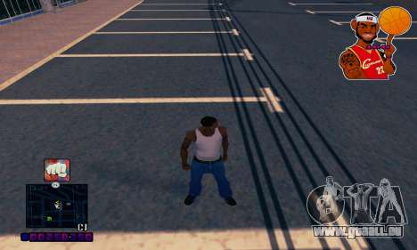 C-HUD Basketball pour GTA San Andreas deuxième écran
