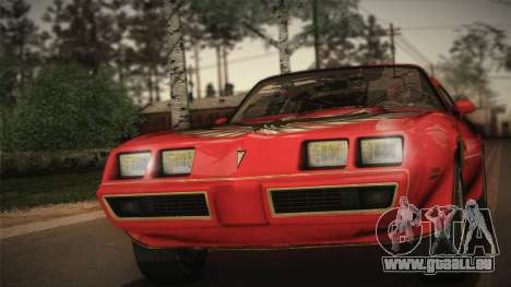 Pontiac Turbo Trans Am 1980 Bandit Edition für GTA San Andreas
