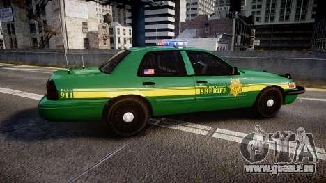 Ford Crown Victoria Sheriff [ELS] green pour GTA 4 est une gauche