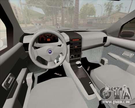 Fiat Siena 2008 pour GTA San Andreas vue intérieure