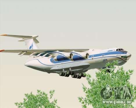 IL-76TD Gazprom Avia für GTA San Andreas zurück linke Ansicht