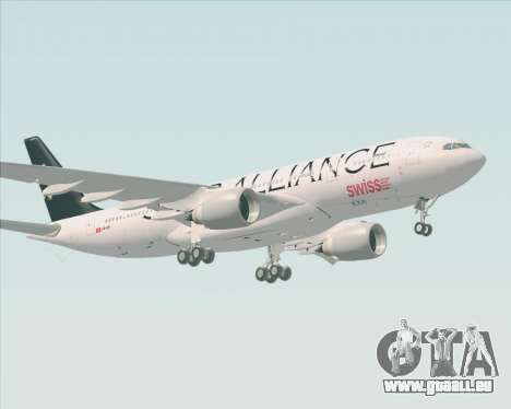Airbus A330-200 SWISS (Star Alliance Livery) pour GTA San Andreas laissé vue