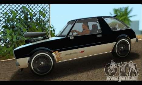 Declasse Rhapsody (GTA V) (SA Mobile) pour GTA San Andreas laissé vue
