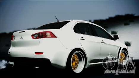 Mitsubishi Lancer für GTA San Andreas linke Ansicht