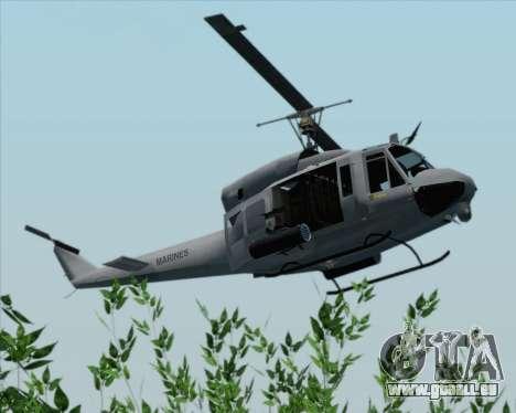 Bell UH-1N Huey USMC für GTA San Andreas Rückansicht