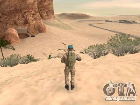 Grenadier des troupes aéroportées de la Fédérati pour GTA San Andreas cinquième écran