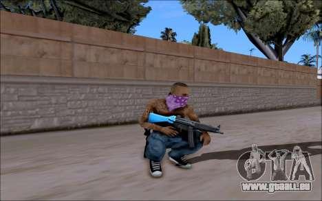 Blueline Gun Pack pour GTA San Andreas troisième écran