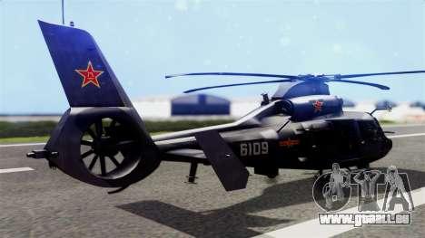 Harbin Z-9 BF4 für GTA San Andreas linke Ansicht