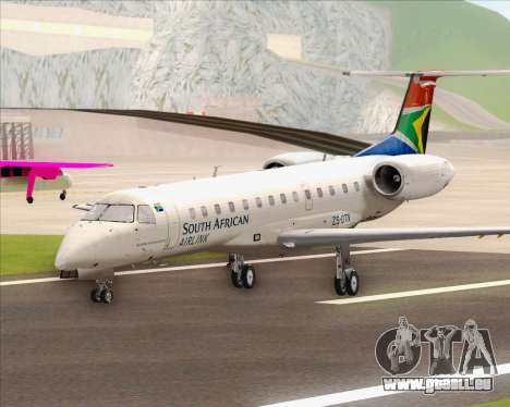 Embraer ERJ-135 South African Airlink für GTA San Andreas zurück linke Ansicht