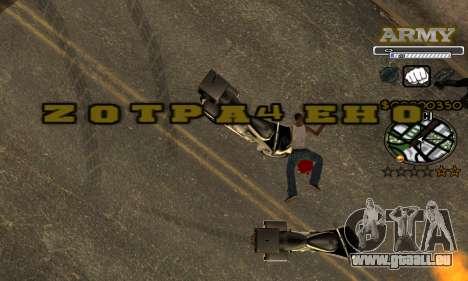 C-HUD Army pour GTA San Andreas septième écran