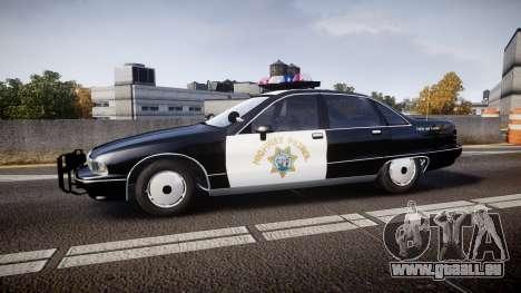 Chevrolet Caprice Highway Patrol [ELS] pour GTA 4 est une gauche