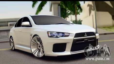 Mitsubishi Lancer X RE-Racing Edition pour GTA San Andreas