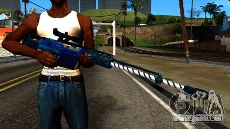 New Year Sniper Rifle für GTA San Andreas dritten Screenshot