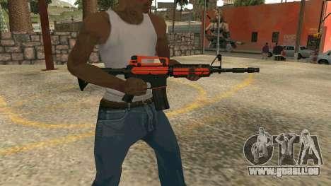 Orange M4A1 für GTA San Andreas her Screenshot