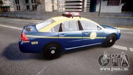 Chevrolet Impala West Virginia State Police ELS pour GTA 4 est une gauche