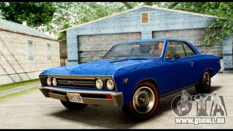 Chevrolet Chevelle SS 396 L78 Hardtop Coupe 1967 pour GTA San Andreas