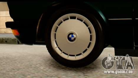 BMW M5 E28 Edit pour GTA San Andreas sur la vue arrière gauche