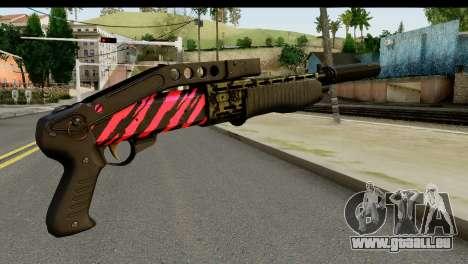 Red Tiger Combat Shotgun für GTA San Andreas zweiten Screenshot
