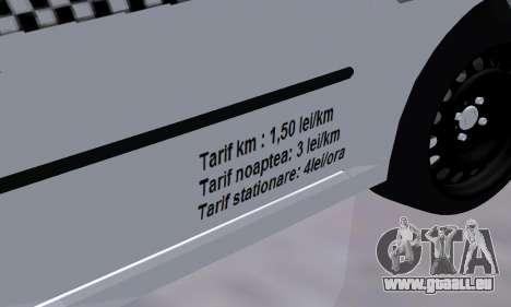 Dacia Logan Taxi für GTA San Andreas Seitenansicht
