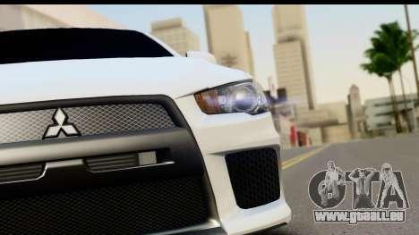Mitsubishi Lancer X RE-Racing Edition pour GTA San Andreas vue arrière