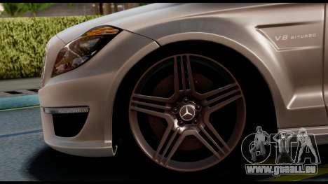 Mercedes-Benz CLS 63 AMG 2010 pour GTA San Andreas sur la vue arrière gauche
