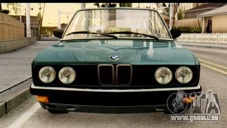 BMW M5 E28 Edit pour GTA San Andreas vue arrière