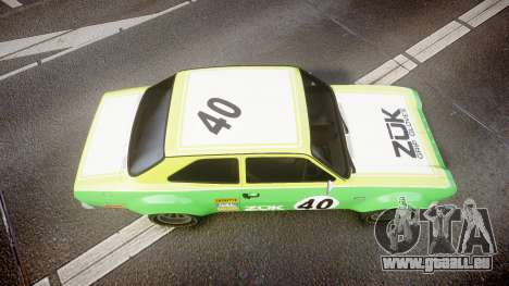 Ford Escort RS1600 PJ40 pour GTA 4 est un droit