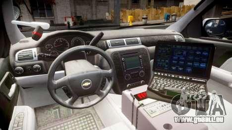 Chevrolet Tahoe 2010 Sheriff Bohan [ELS] pour GTA 4 Vue arrière