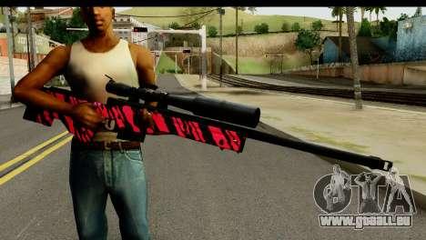 Red Tiger Sniper Rifle pour GTA San Andreas troisième écran