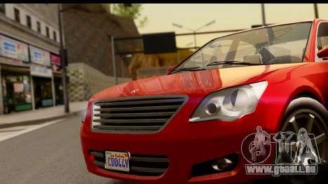 GTA 5 Karin Asterope pour GTA San Andreas vue de droite