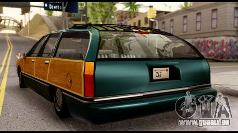 Elegant Station Wagon with Wood Panels für GTA San Andreas zurück linke Ansicht