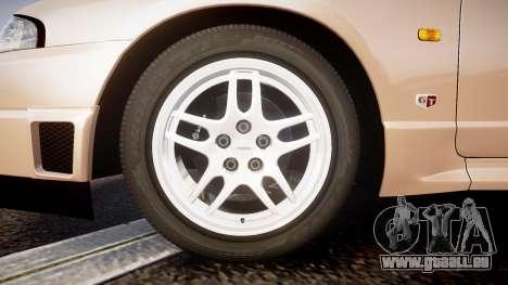 Nissan Skyline R33 GT-R V.spec 1995 für GTA 4 Rückansicht
